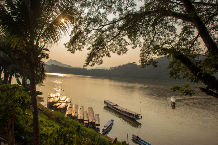 First impression of the Mekong in Luang Prabang.