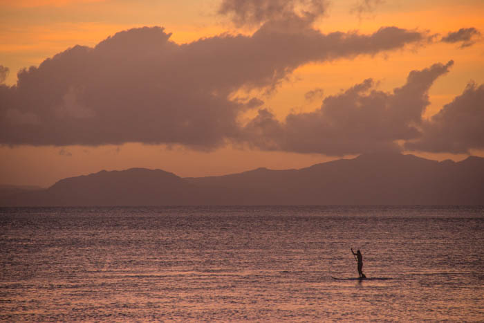 Some standup-paddling into the sunset.
