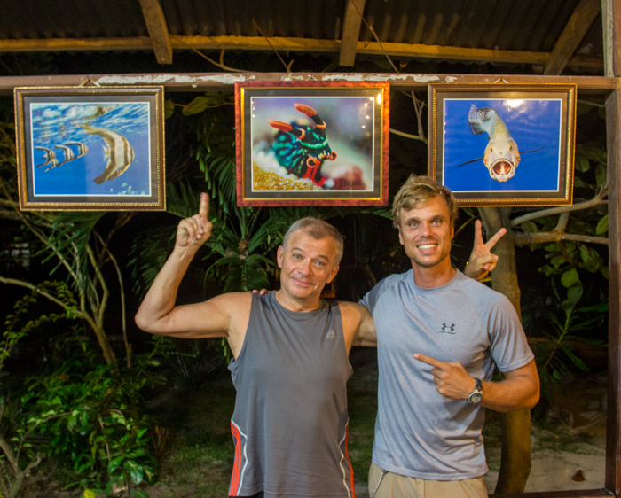 Bunaken Hans and I with some of his amazing shots.