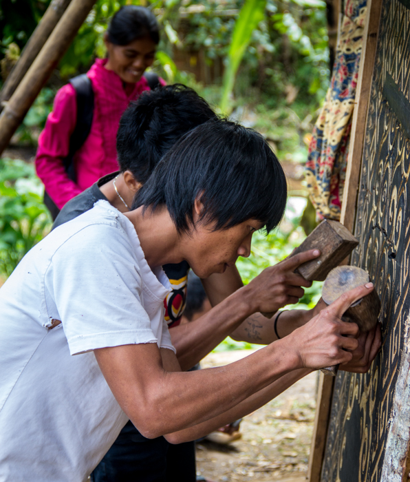 Traditional carving in Toraja