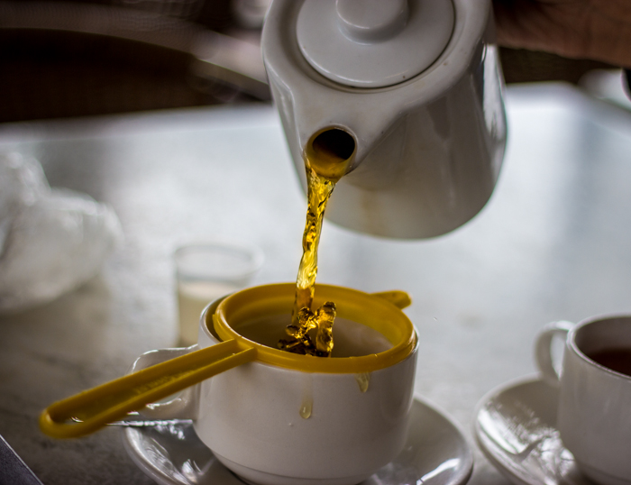 Sampling that premium tea of the Cameron Highlands. Good stuff...