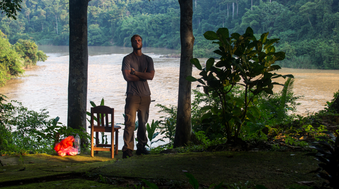 My campsite with a view (and a chair). Exhausted but happy - although I don't look like it I guess.
