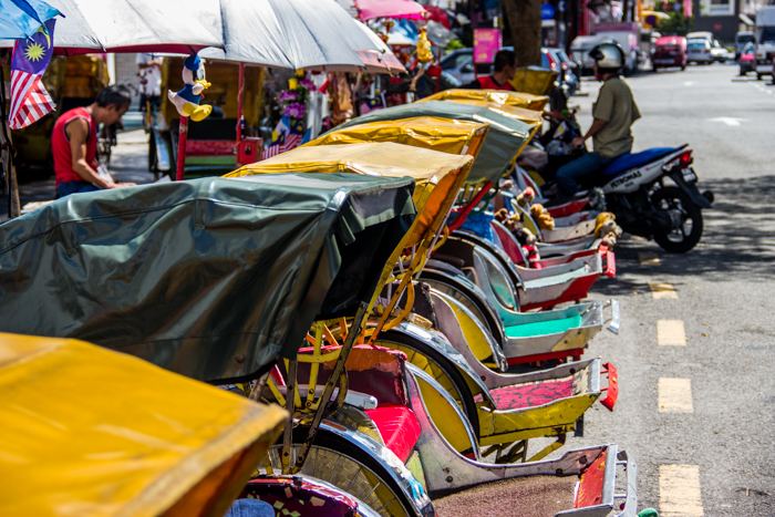 Trishaw galore in Penang.
