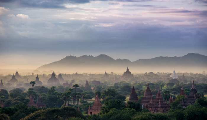Dawn in Bagan.