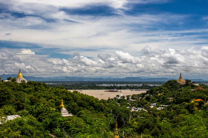 View from Sagaing Hill, outside of Mandalay.