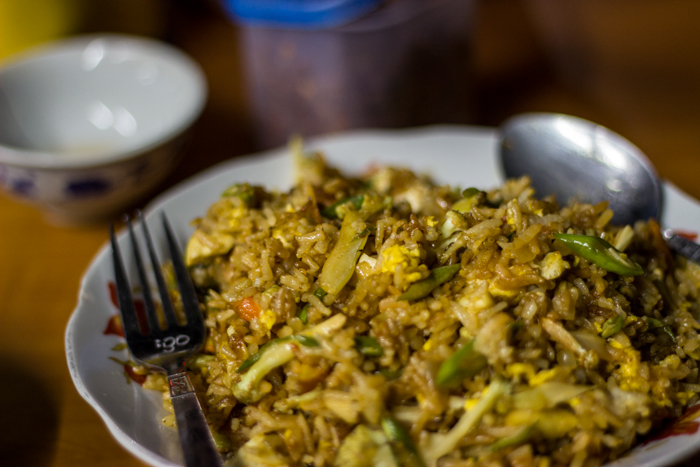Fried Rice...you try it once, you try it twice. And if it don't work out, you eat it again.