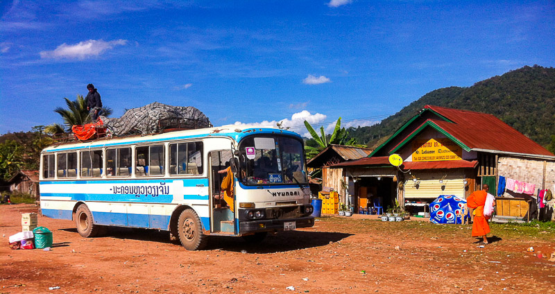Bus to Phongsaly, Laos