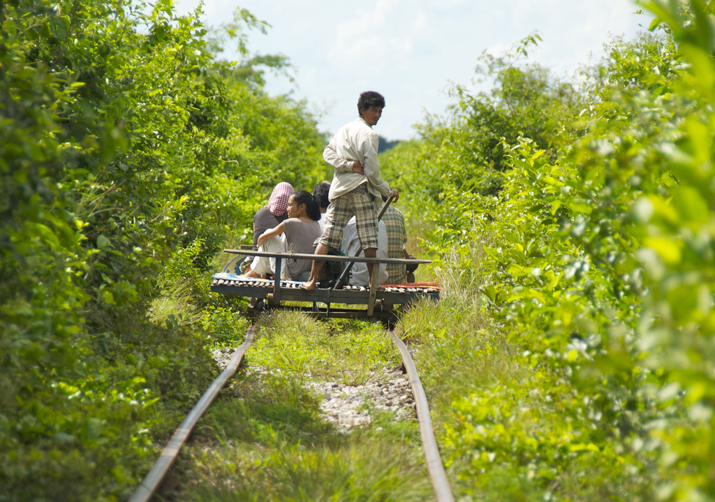 Battambang Bamboo Train - Taxi for the Locals