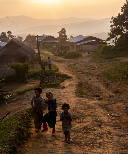 Sunset in the Shan Highlands of Myanmar