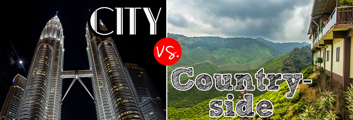 City vs. Countryside. Why you should see both when traveling.