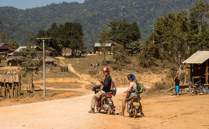 Get off the beaten track. Easily done when traveling by motorbike. Laos