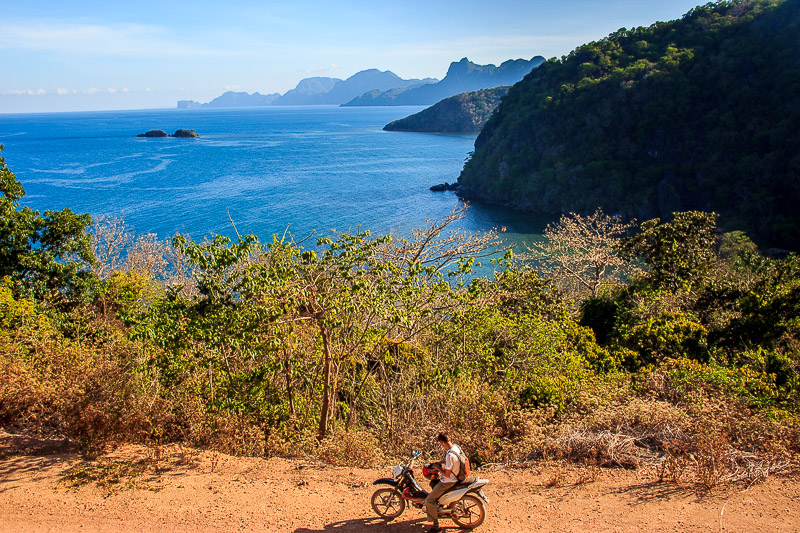 Finding our way to Brgy Marcilly and the secret beach. Coron, The Philippines.