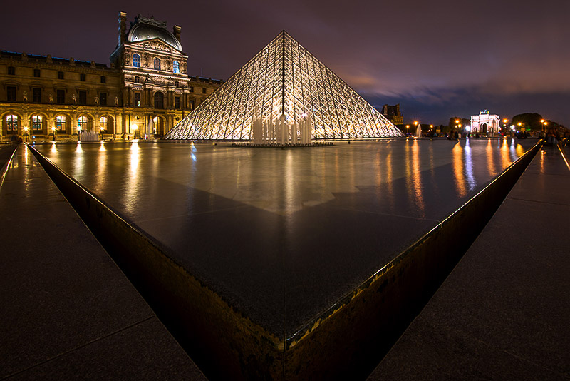 France-Louvre at Night, Paris
