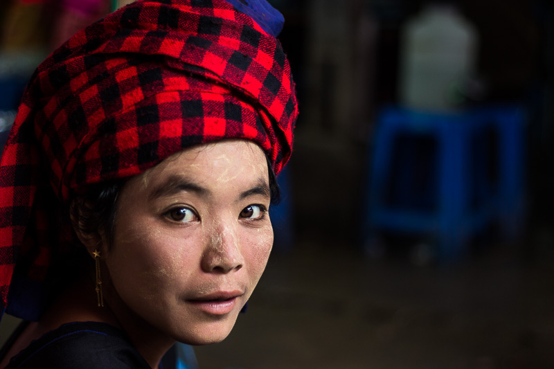 Myanmar woman traditional