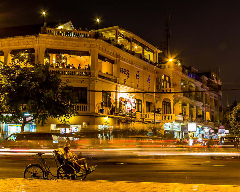 FCC at night in Phnom Penh