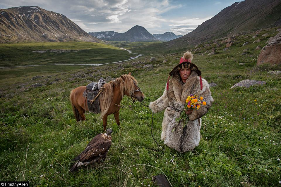 Mongolian nomad in the tundra
