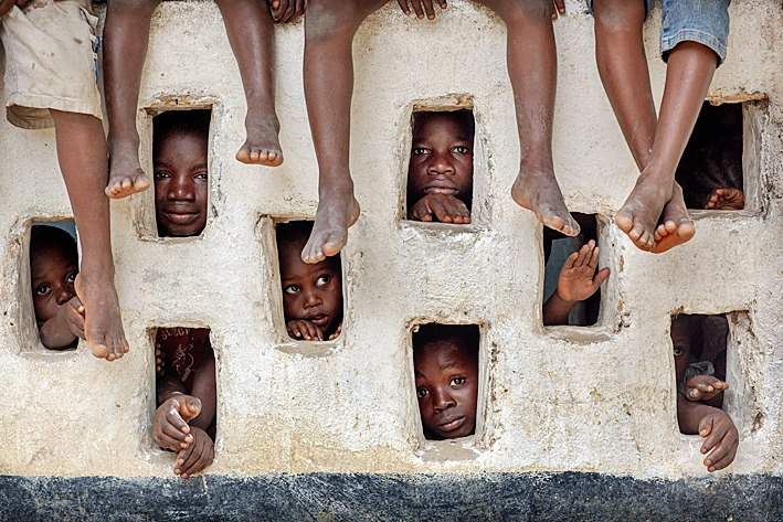 Children in LIberia by Timothy Allen