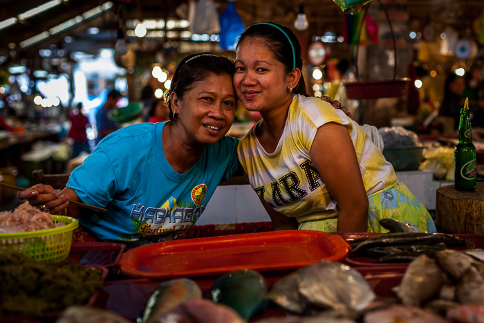 The friendly ladies from the fish stall of Balamban public market