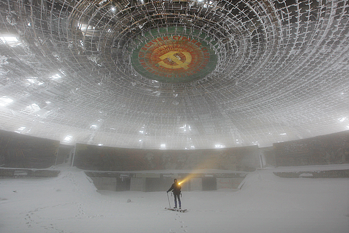 Inside Buzludzha Monument by Timothy Allen