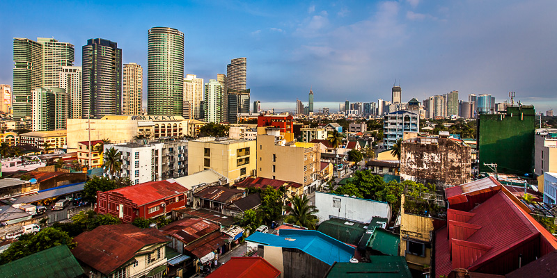 The panoramic view over the Makati Skyline