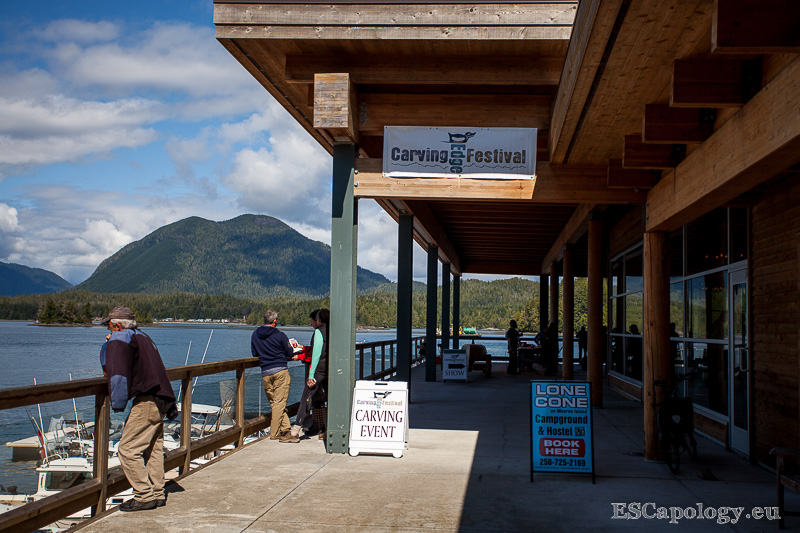 Entrance of the Tofino Carving Festival