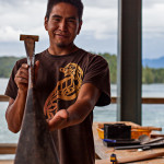 Carl Martin Junior at Tofino Carving Festival