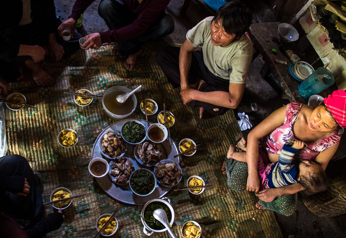 Invited for lunch with a local family - somewhere in the Northern Vietnamese province of Ha Giang