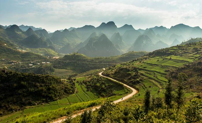 Riding through the North Vietnamese Hillside